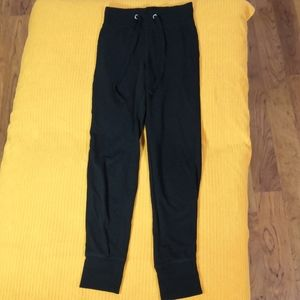 H&M Basics Slim fit black drawstring sweatpants